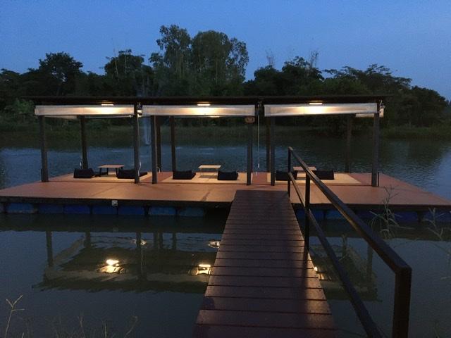 Museflower's floating deck