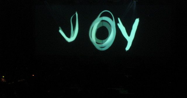 """""""Joy"""" written in lights"""