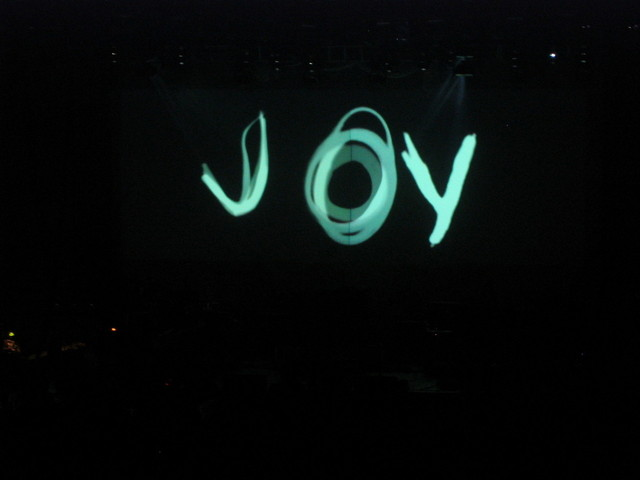 """Joy"" written in lights"